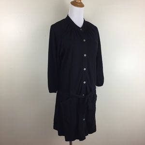 FREE PEOPLE Belted Button Shirt Dress Low Waist